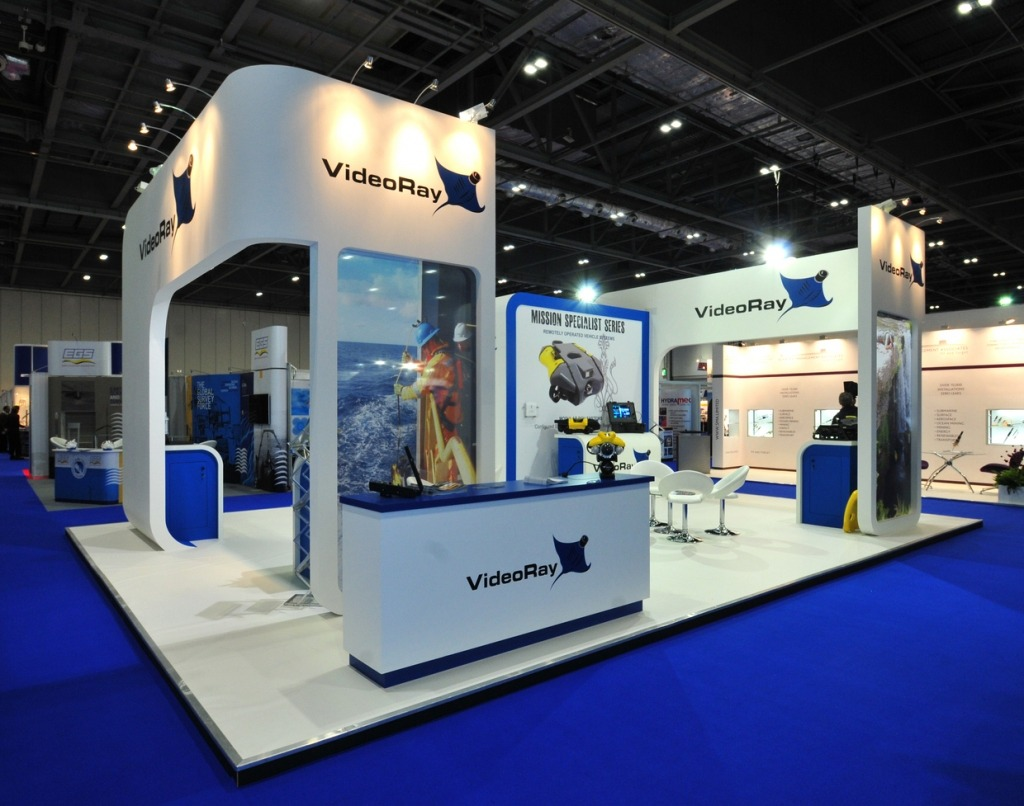Exhibition Stand For Rent : Videoray exhibition stand bespoke creative roots